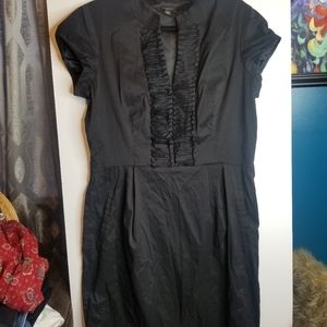 Ann Taylor Ruffled Black Dress
